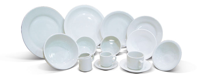 Servicios hurlingham vajilla blanca for Vajilla de platos